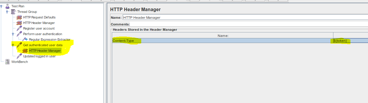 JMeter Header Manager within HTTP Request