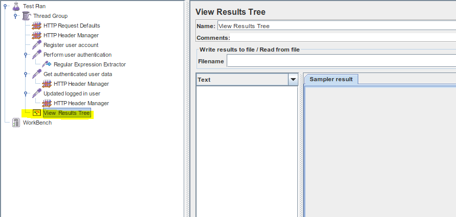 JMeter View Results Tree