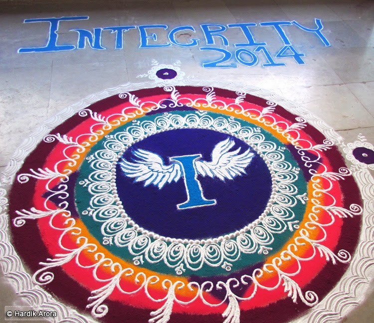 Welcome Integrity Rangoli